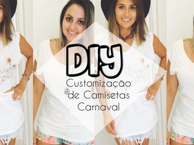 DIY: Customização de camisetas Carnaval