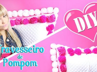 DIY: Travesseiro de Pompom