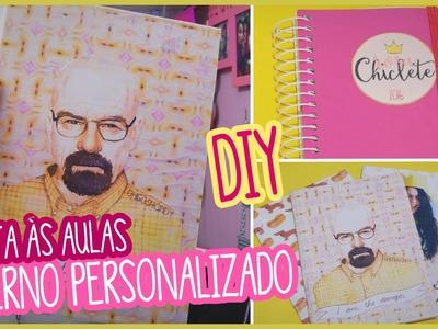 DIY: Volta às Aulas - Caderno personalizado + Meus materiais | Andressa Moraes