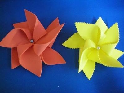 Flor Catavento - fácil e rápido