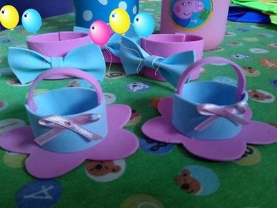 Forminha de docinhos para festa de EVA  - Tema Peppa Pig