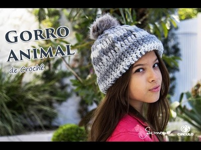 Gorro de Crochê - Professora Simone - Gorro Fácil Animal Círculo S.A