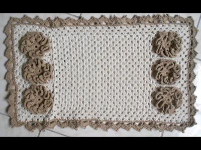 Hilda Eroles - vídeo 62 -  tapete de banheiro com flor em ondas  p1