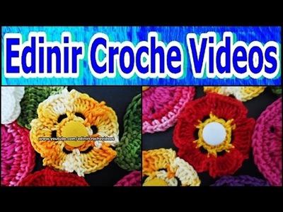 MINI FLORES + MINI FOLHAS EM CROCHE PASSO A PASSO - 114