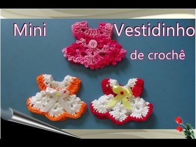 Passo a Passo Lembrancinha de Crochê Mini  Vestidinho