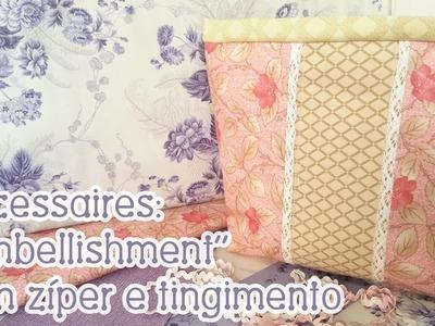 Patchwork Ao Vivo #17: nécessaire Dia das Mães + pregar zíper e tingir tecidos!
