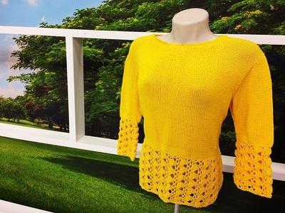 Programa Arte Brasil - 07.10.2015 - Claudia Maria - Blusa em tricô e crochê