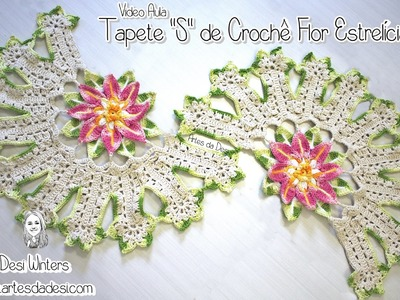"Tapete ""S"" de Crochê - Artes da Desi"