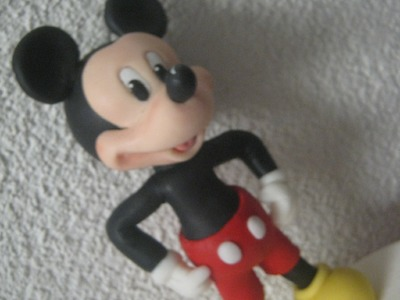 1° Parte Mickey Mouse ( Cake Topper ) Topo do Bolo - Biscuit. Porcelana Fria