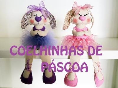 Feltro: Coelha Bailarina de Páscoa