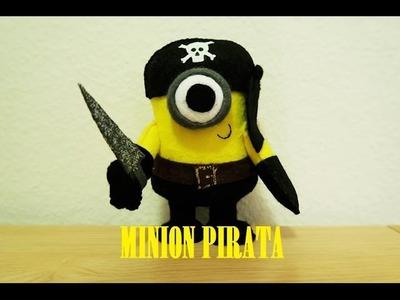 Minion Pirata em feltro