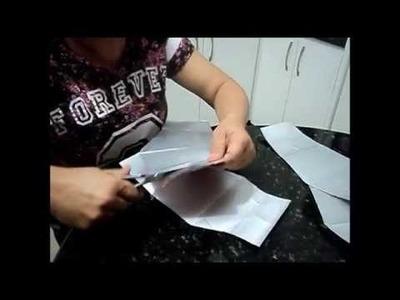 Reciclar caixa  de leite fazendo  vaso
