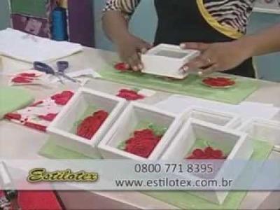 Ateliê na TV - Estilotex - Quadro com tecidos