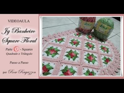 Jg Banheiro Square Floral - Parte 1 - Squares