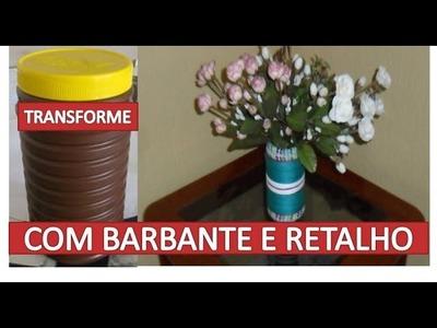 Artesanato - Reciclado, com barbante e tecido Simples e Fácil (Decorar)