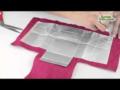 Carteira com caixa de leite Fazer artesanato