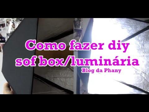 Como fazer sua Soft box|luminária diy por Phany Pinheiro