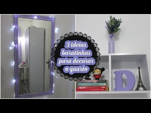 Diy: 3 ideias baratinhas para decorar seu quarto
