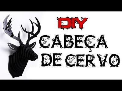 [DIY] Cabeça de Cervo. Veado. Alce - Com papelão | Por Niia Sampaio