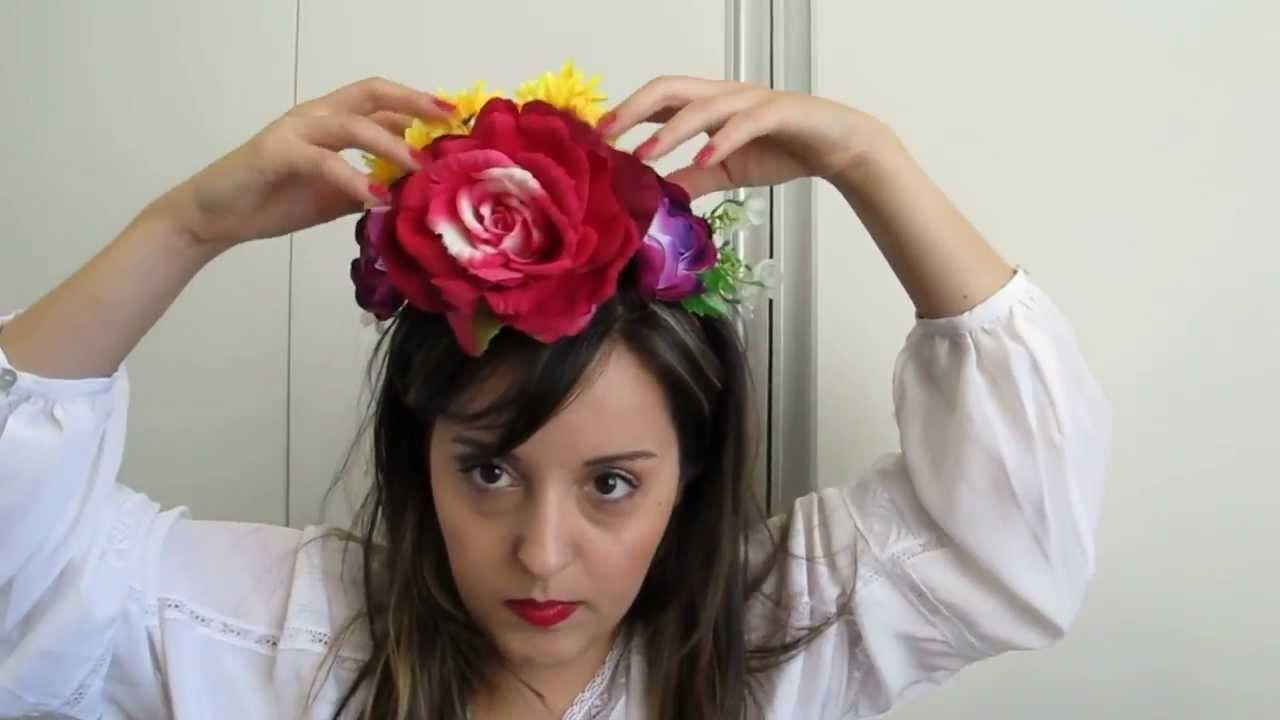 DIY: Coroa de flores Frida Kahlo