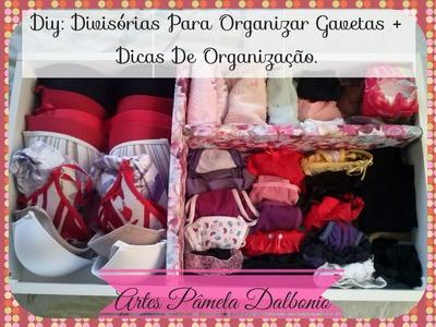 Diy: Divisórias Para Organizar Gavetas +  Dicas De Organização