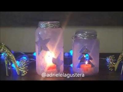Diy: Faça você mesma decoração de vidros para o natal.