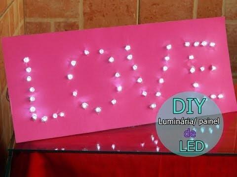 |DIY| Painel. Luminária de LED - Decoração Para Festas, Quarto, Estabelecimento.  Fácil e Barato!