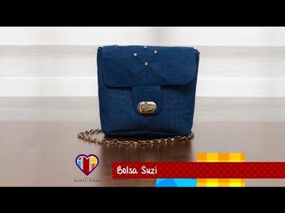 Bolsa de jeans Suzi - Maria Adna Ateliê - Cursos e aulas de bolsas de tecido e couro