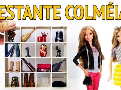 Como fazer uma Estante com Nichos para Barbie e outras Bonecas!