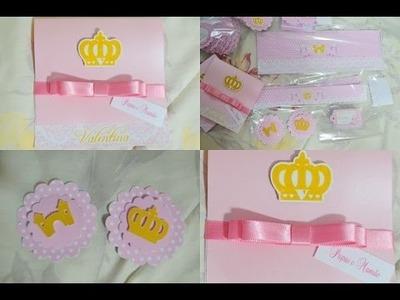 CONVITES de Coroa I Personalizados princesa I Rótulos e apliques personalizados