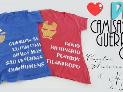 DIY: Camisa Guerra Civil - Capitão América vs. Homem de Ferro