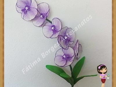DIY- Passo a Passo Da Flor Orquídea Vanda  em  Eva