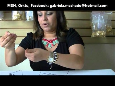 AnaGGabriela - Vídeo-aula-28 - Pulseira macramê com entremeio de laço