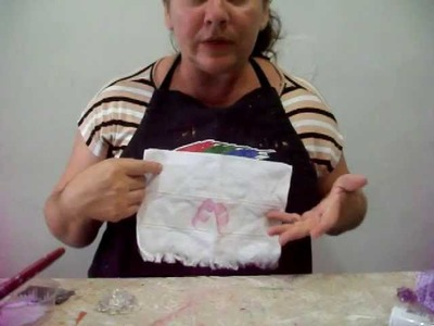 Decoupage de guardanapo em tecido-Toalhinha