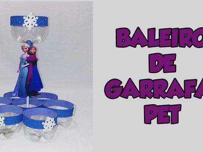 DIY Baleiro da frozen com garrafa pet
