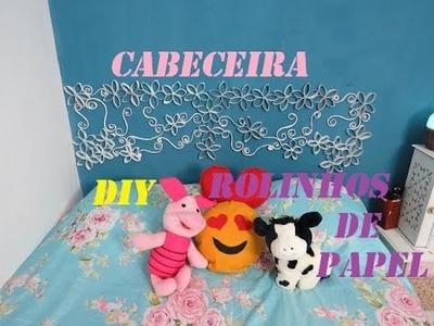DIY Cabeceira de cama feita com rolinhos de papel higiênico