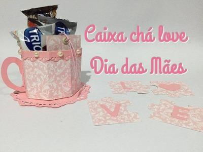 DIY | Chá com a mamãe - Como fazer xicara de papel