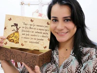 DIY | Faça Você Mesmo | Caixa com Stencil Poema Menina | Livia Fiorelli | Life Artesanato
