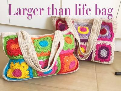 Especial dia das mães #1: bolsa larger than life em crochê!