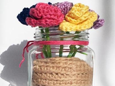 Especial dia das mães #2: Vaso de flores em crochê