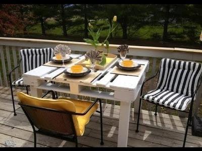 Faça você mesma uma mesa de jantar com palete de madeira