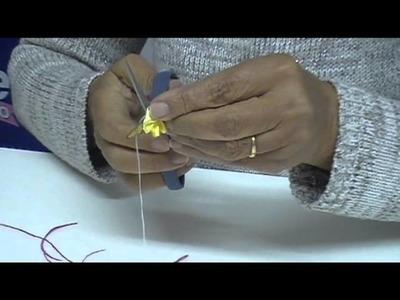 Fitas Progresso - Cobre-alimentos decorado com fitas - Clube de Artesanato