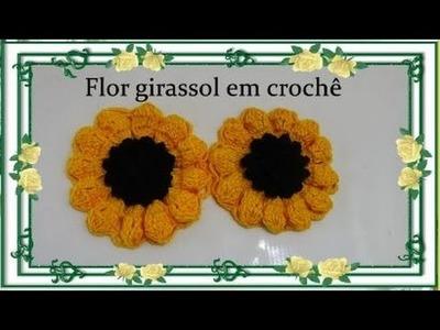 Flor em Crochê  Girassol Passo a Passo