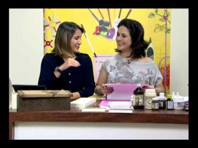 Mulher.com 13.07.2012 - Marisa Magalhães - Caixa de vinho com papel textura 01