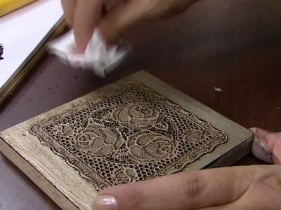 Mulher.com -21.03.2016 - Metalização envelhecida sobre toalha plástica - Celia Bonomi PT2