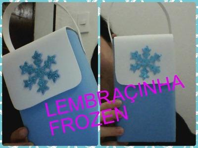 Saquinho surpresa frozen com caixa de leite