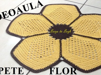 Tapete crochê Flor #LuizadeLugh
