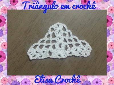 Triângulo fácil em crochê # Elisa Crochê