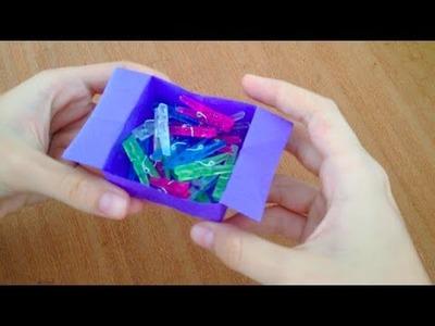 DIY - Como fazer caixinhas de papel para organizar sua mesa