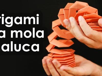 Mola maluca de origami (brinquedo de dobradura para iniciantes)